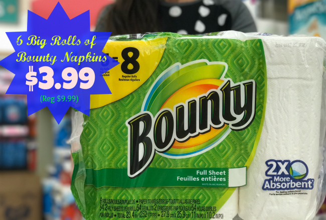 New Bounty Coupons 6 8 Big Rolls Of Paper Towels Only 3 99