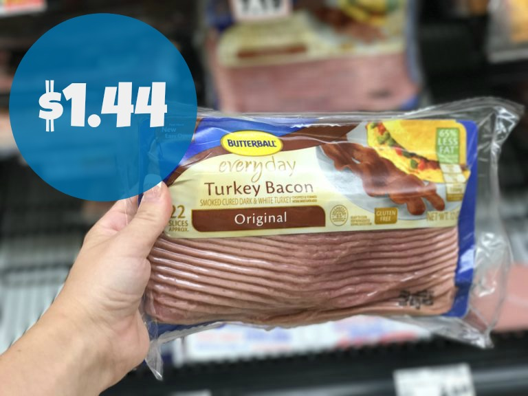 picture relating to Butterball Coupons Turkey Printable called Fresh Butterball Discount coupons Turkey Bacon Simply $1.44 at Kroger