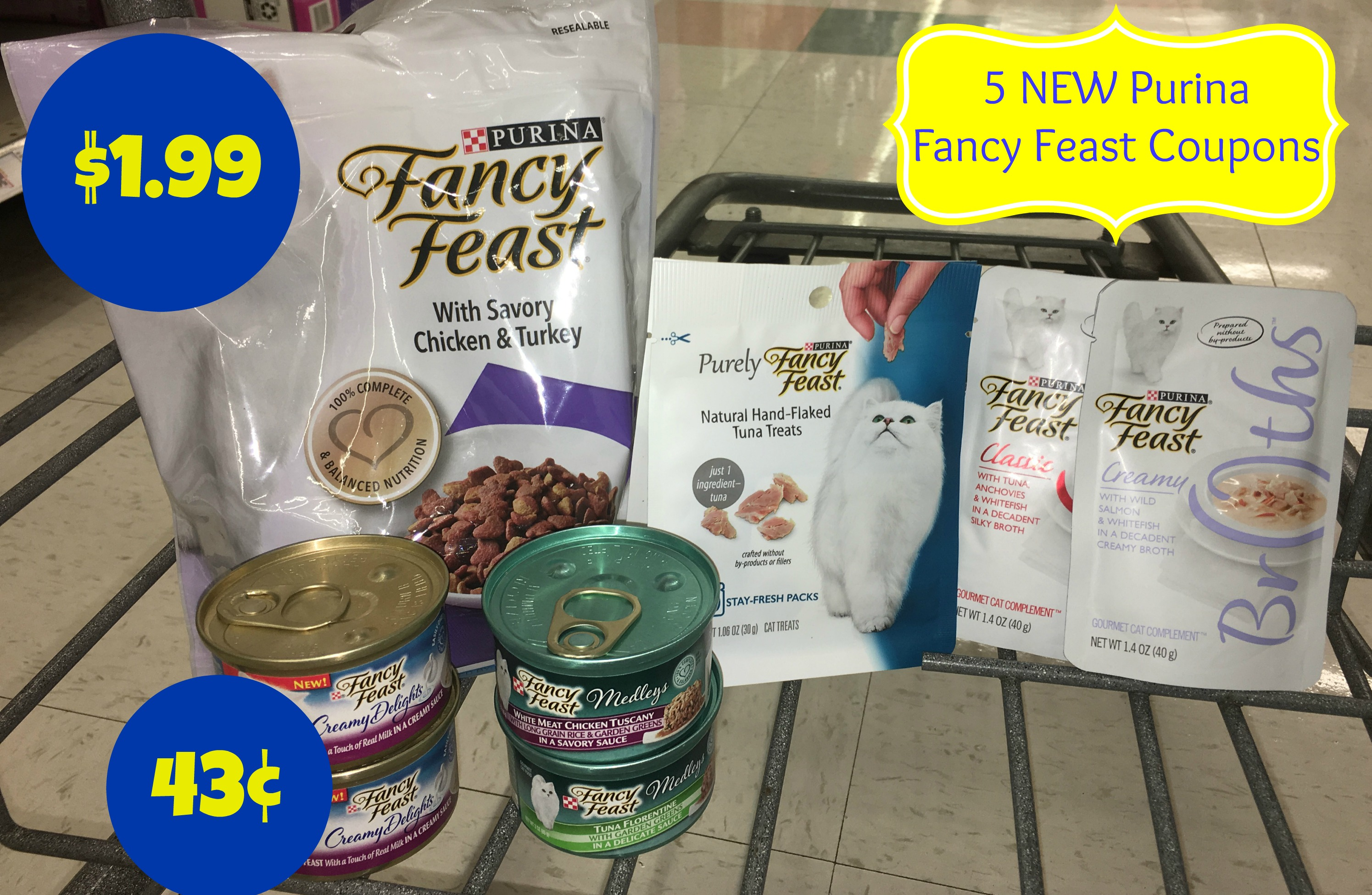 picture about Fancy Feast Printable Coupons identify Clean Extravagant Feast Coupon codes Dry Cat Foods Merely $1.99 + A lot more Cat