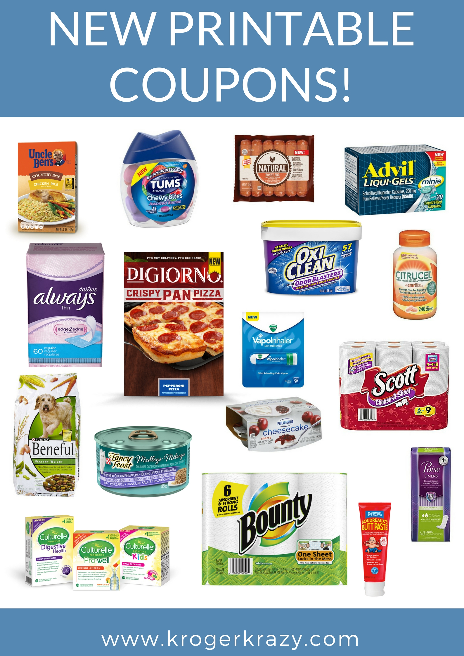 photo regarding Tums Coupon Printable named Refreshing Printable Discount coupons! Tums, Tampax, DiGiorno, Usually, Scott