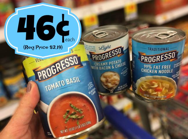 image about Printable Progresso Soup Coupons titled Progresso Soups Merely $0.46 with Kroger Mega Party (Reg $2.19