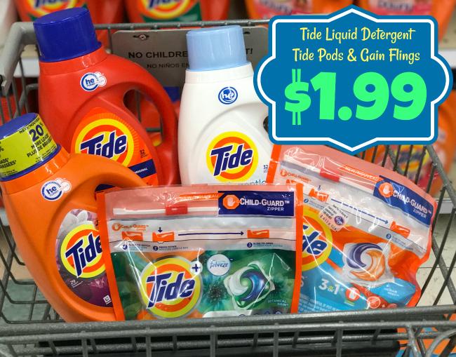 Tide Pods Gain Flings And Tide Liquid Detergent Only 1 99 With Kroger Mega Event Kroger Krazy
