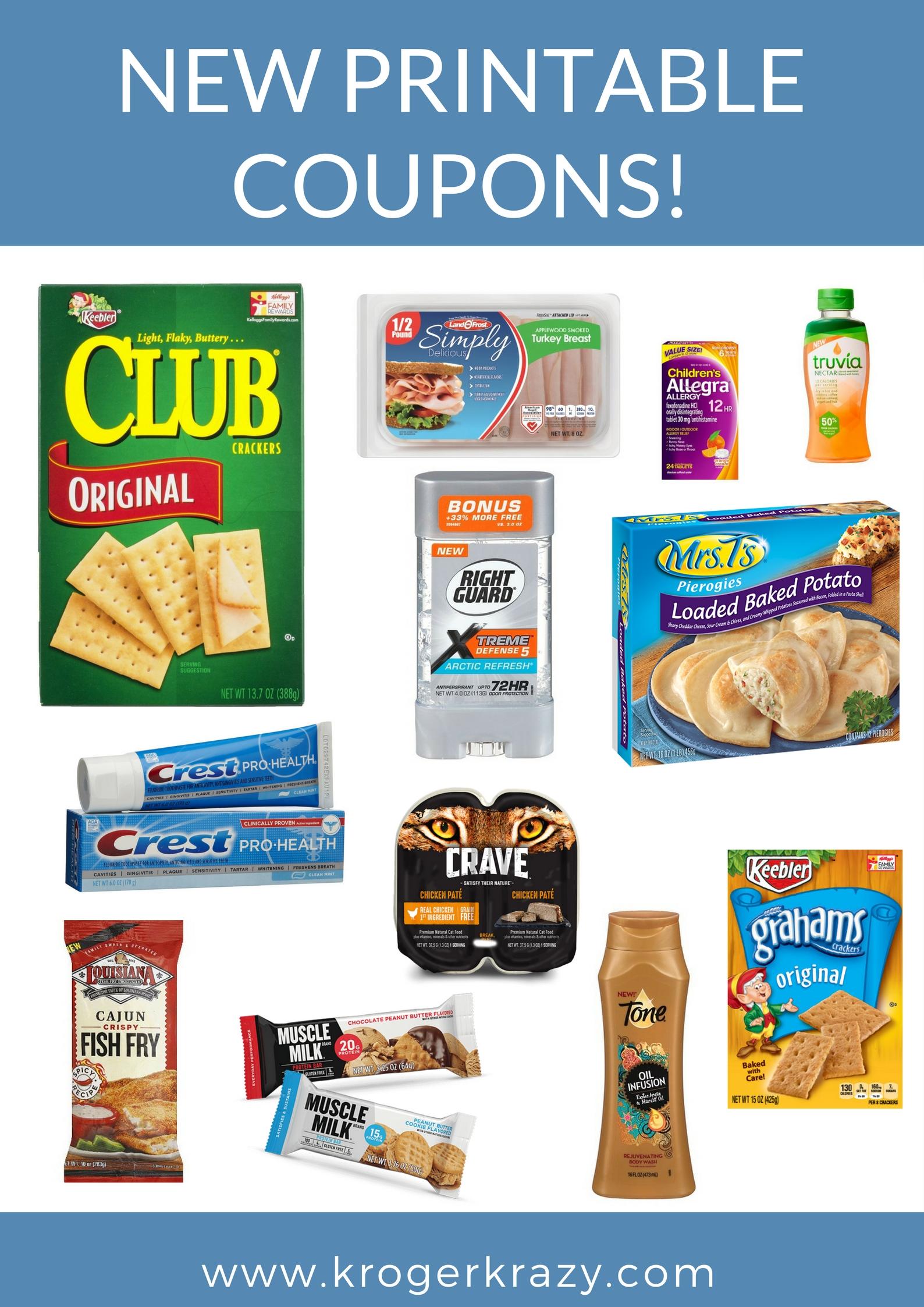 Kroger printable coupons