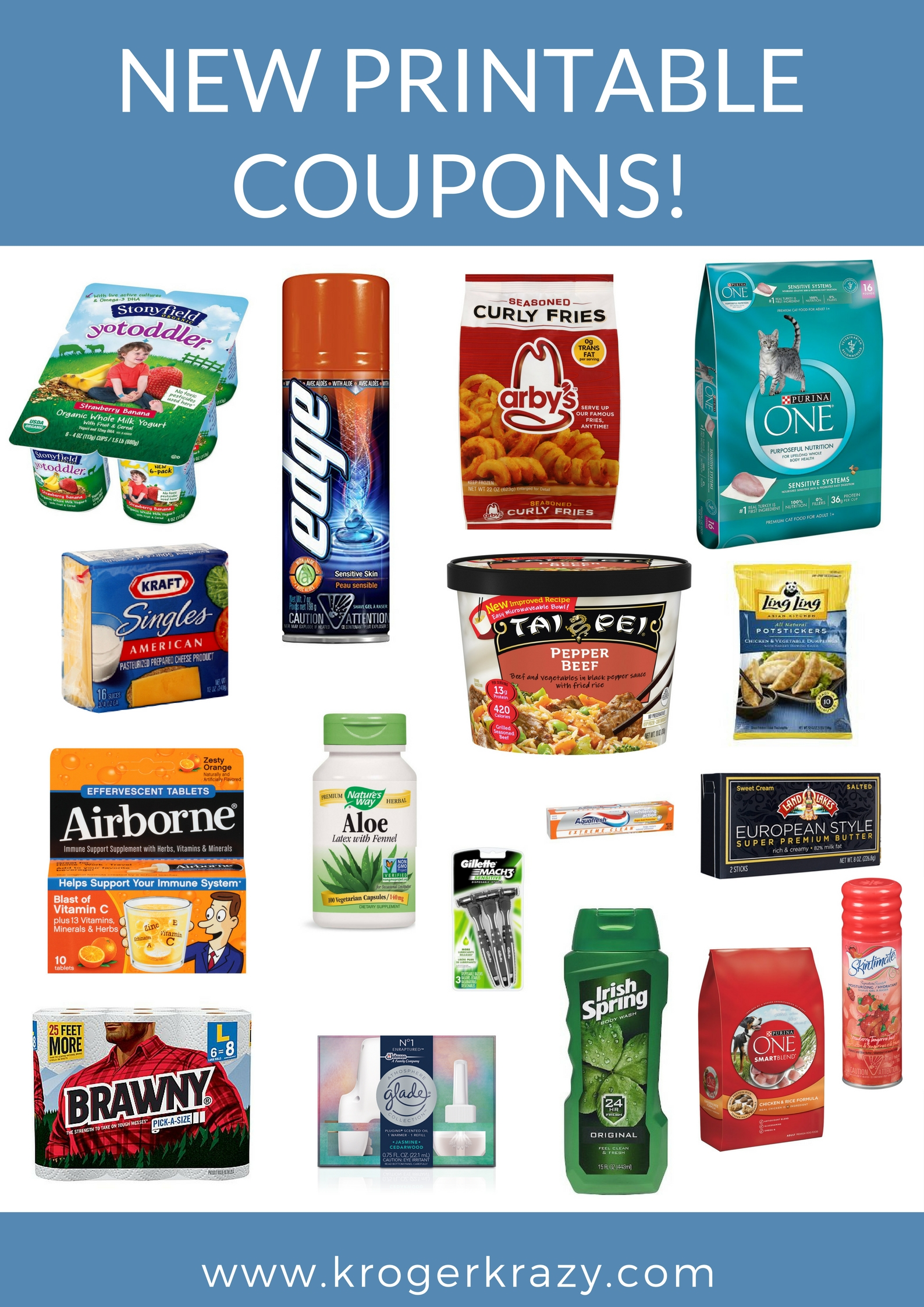 graphic regarding Gillette Printable Coupon titled Refreshing Printable Discount codes! Purina, Gillette, Land O Lakes, Glade