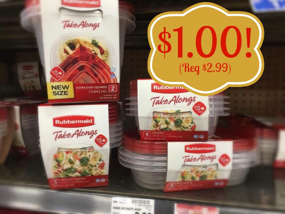 Rubbermaid TakeAlongs Food Storage Containers ONLY 100 at Kroger