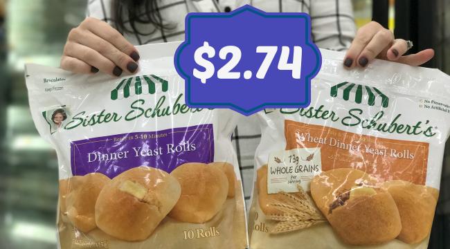 New Sister Schubert S Coupon Dinner Rolls For 2 74 At Kroger