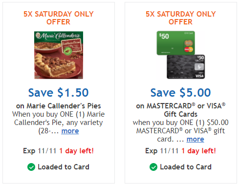 TODAY ONLY | 5x Kroger Digital Coupon for Marie Callender's Pies ...