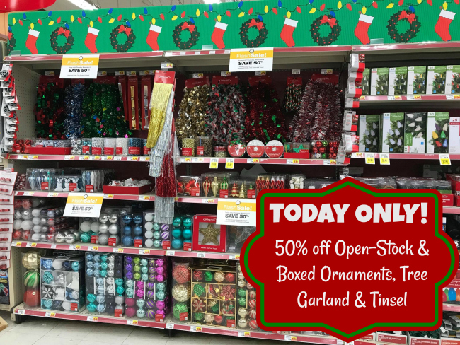 Kroger Christmas Hours.Today Only 50 Off Open Stock Boxed Ornaments Tree