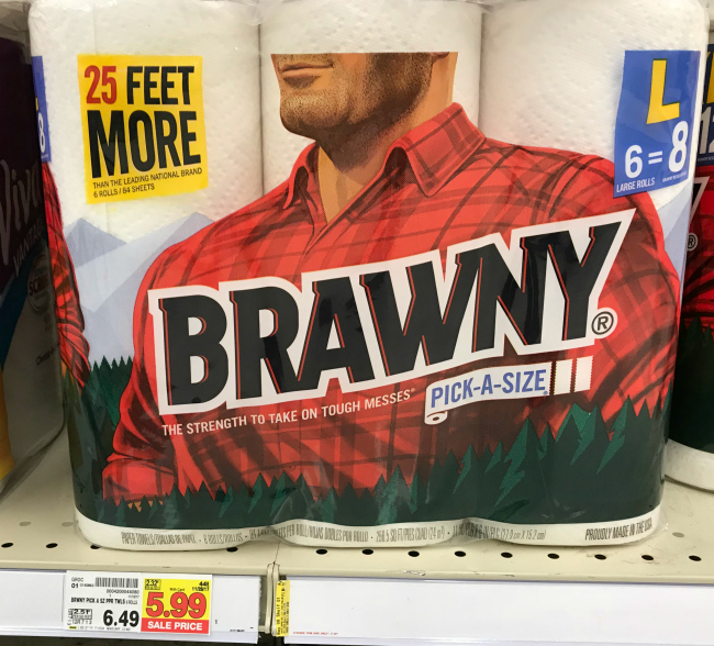 photo regarding Brawny Printable Coupons identify Fresh new Brawny Discount codes 6 Heavy Rolls Paper Towels Simply $4.99