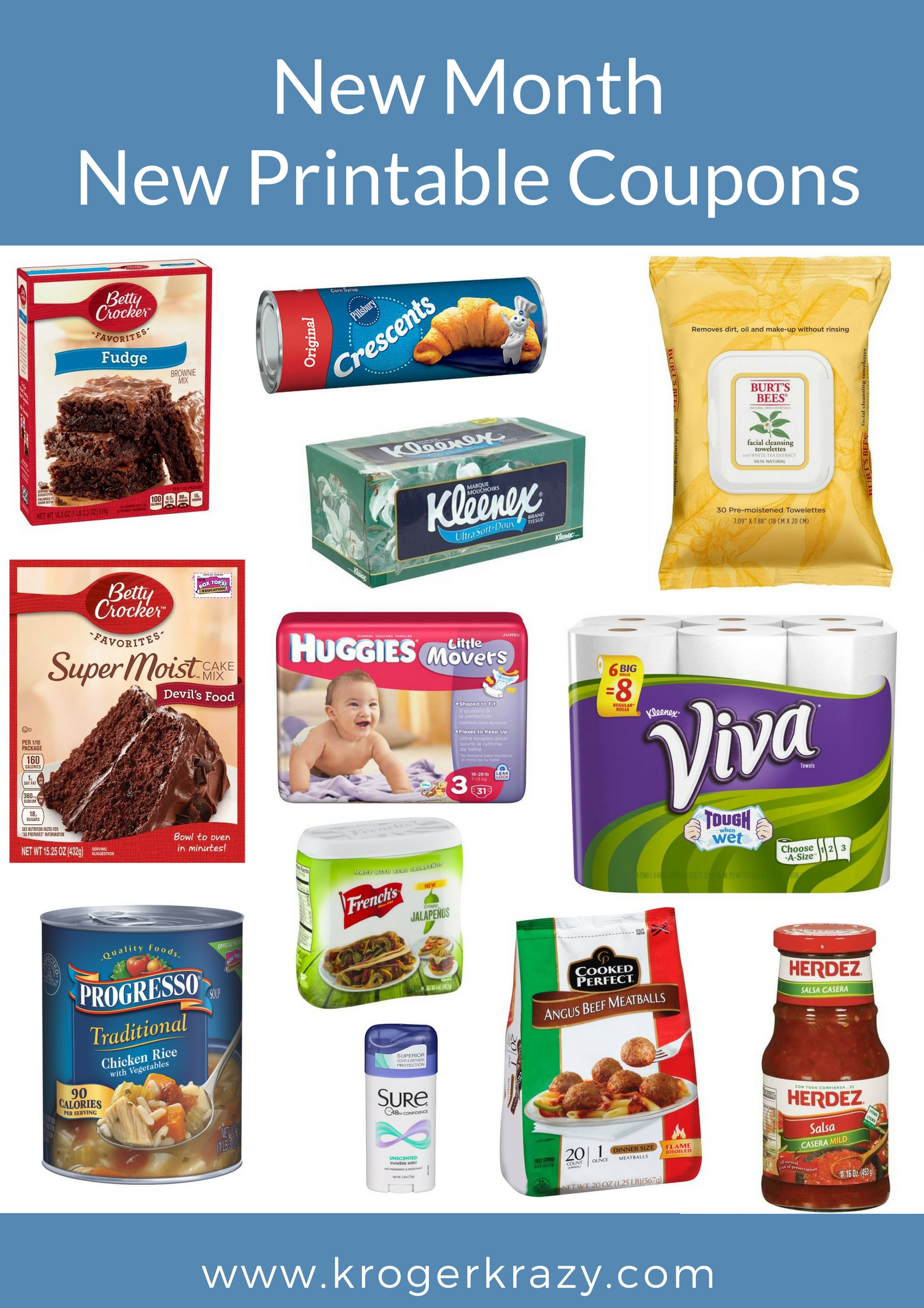 image relating to Viva Printable Coupon called Fresh new Thirty day period, Clean Printable Coupon codes! Betty Crocker Brownie Blend