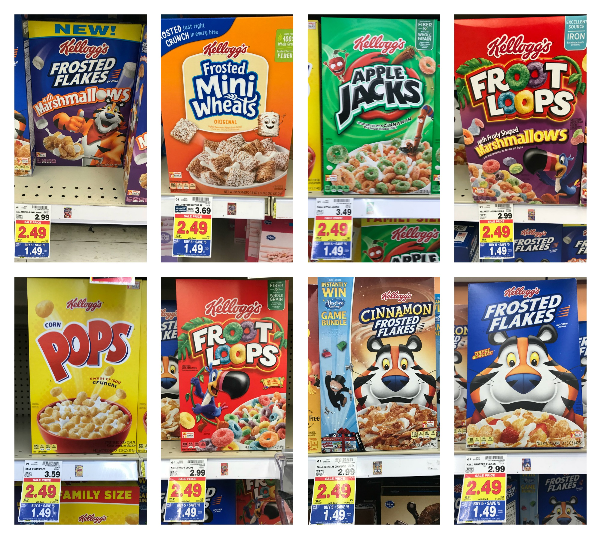 Kellogg's Cereals As Low As $0.89 With Kroger Mega Event