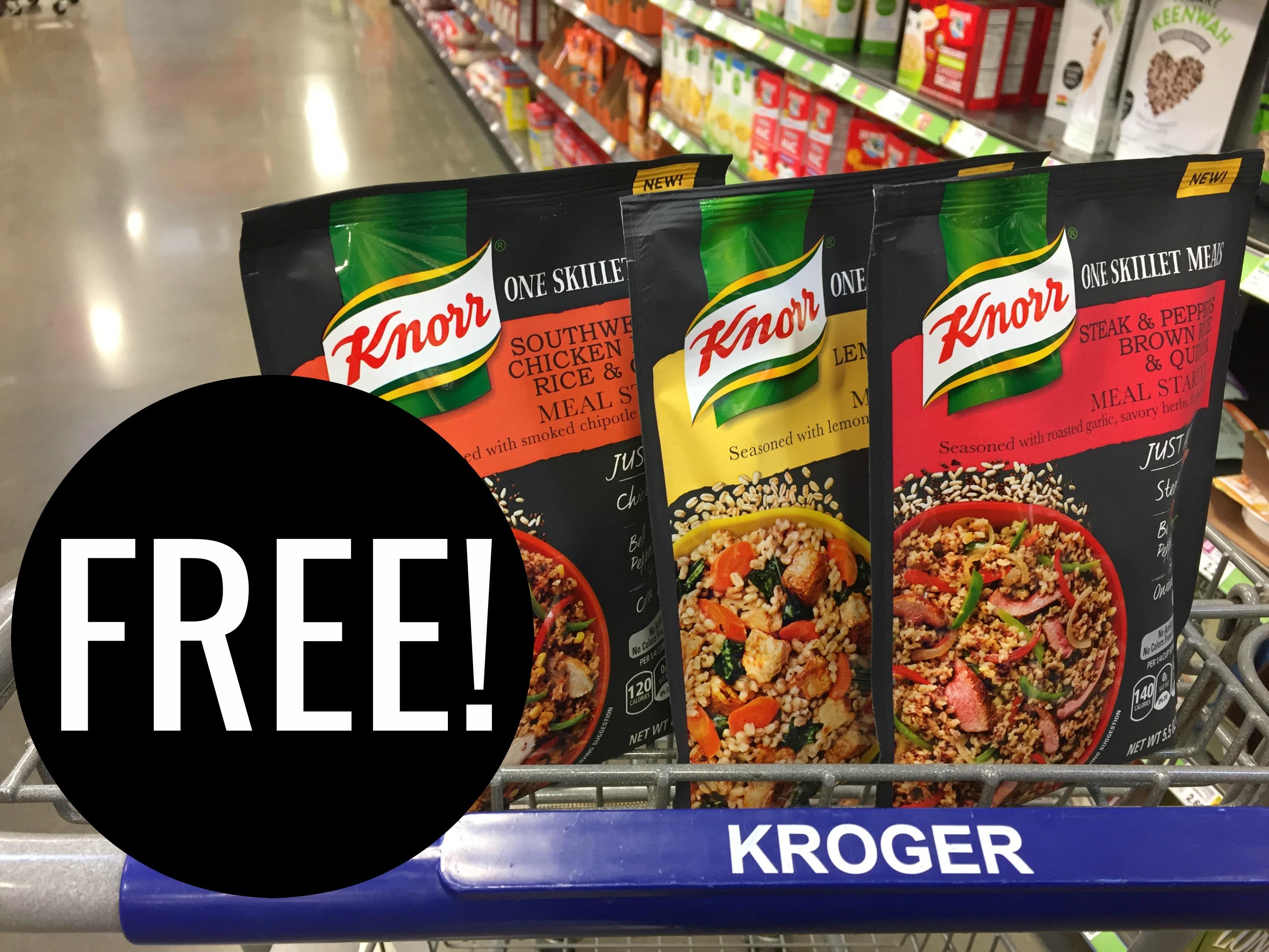 Get Your Free Knorr One Skillet Meals Pouch At Kroger Kroger Krazy