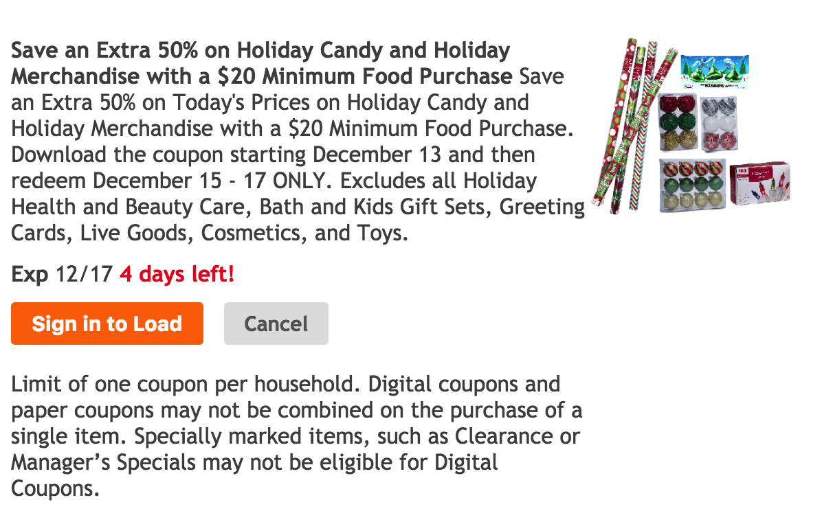 Dec 15 – 17 ONLY | Get an Extra 50% off Holiday Candy & Merchandise ...