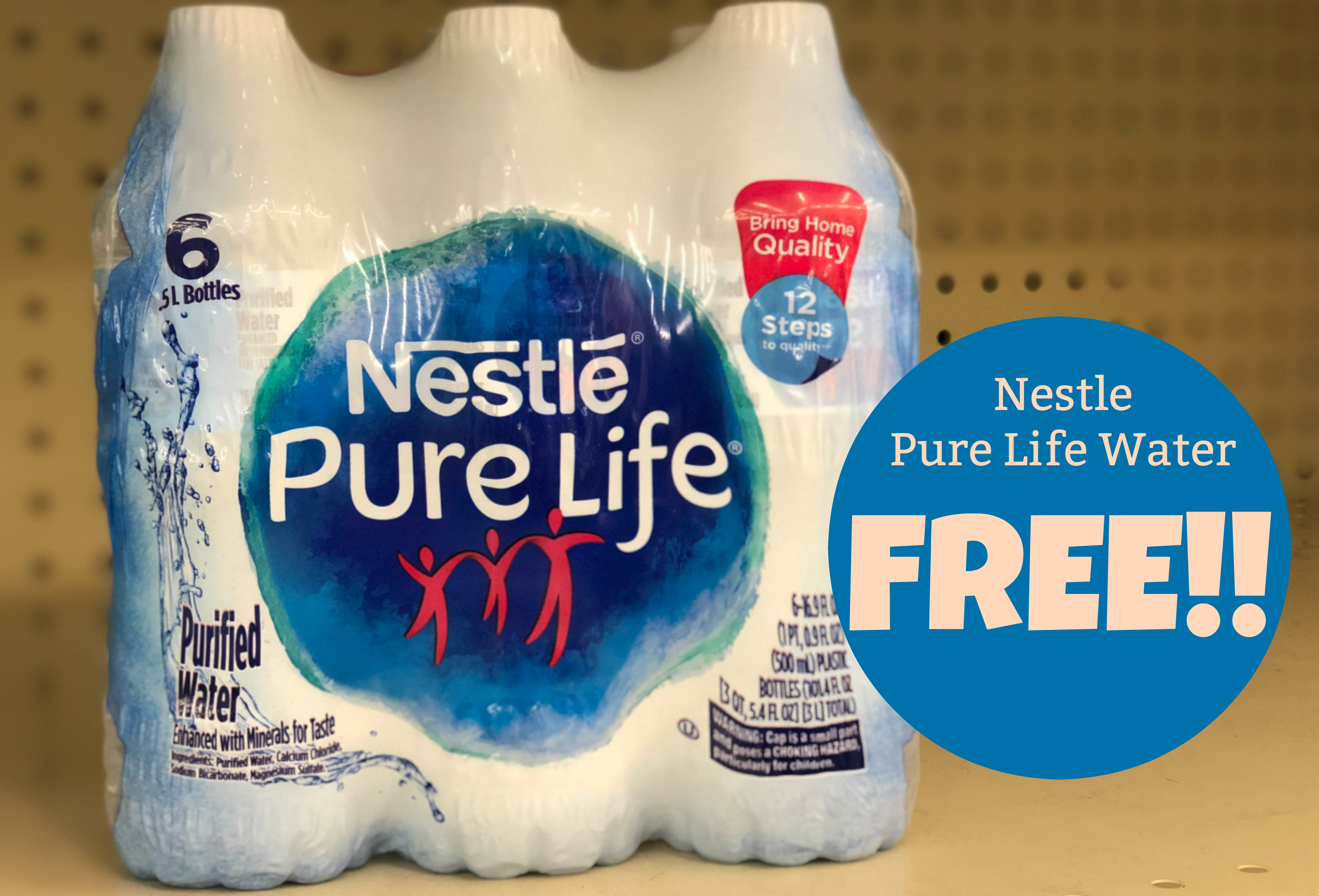 Pick up one FREE Nestle Pure Life Water Multipack at Kroger