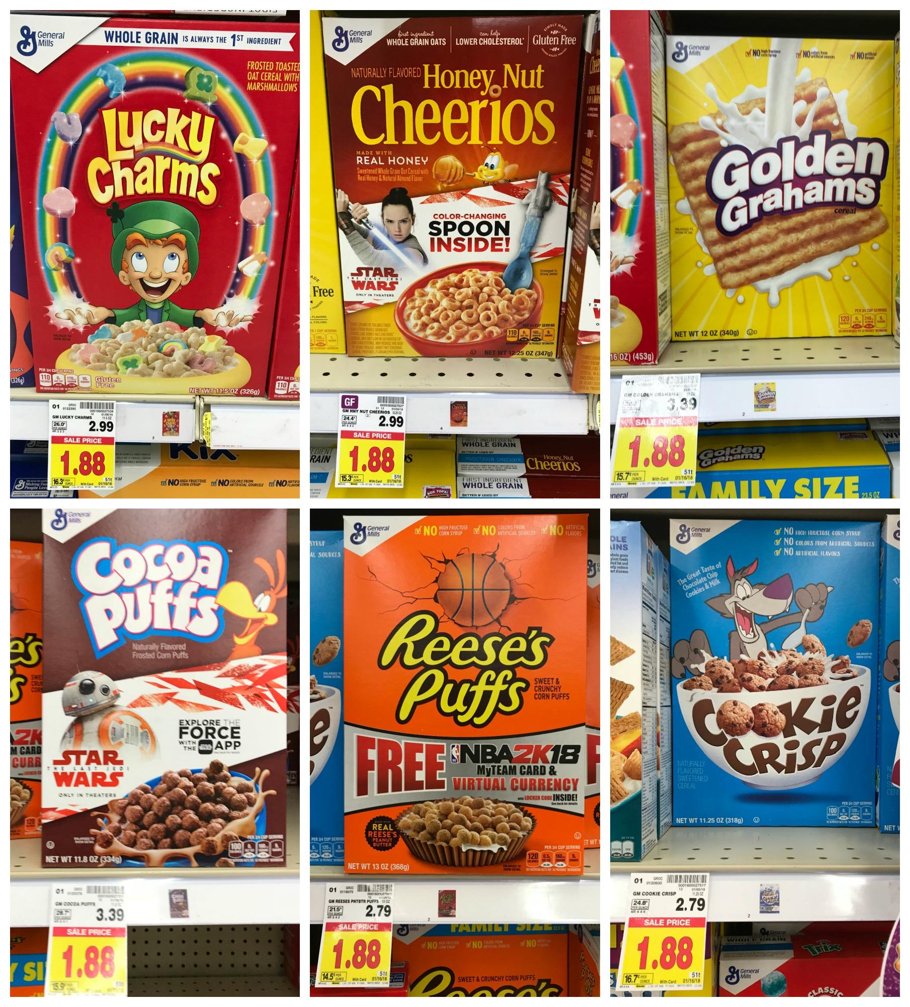 General Mills Cereals ONLY $1.38 At Kroger (Reg Price $2