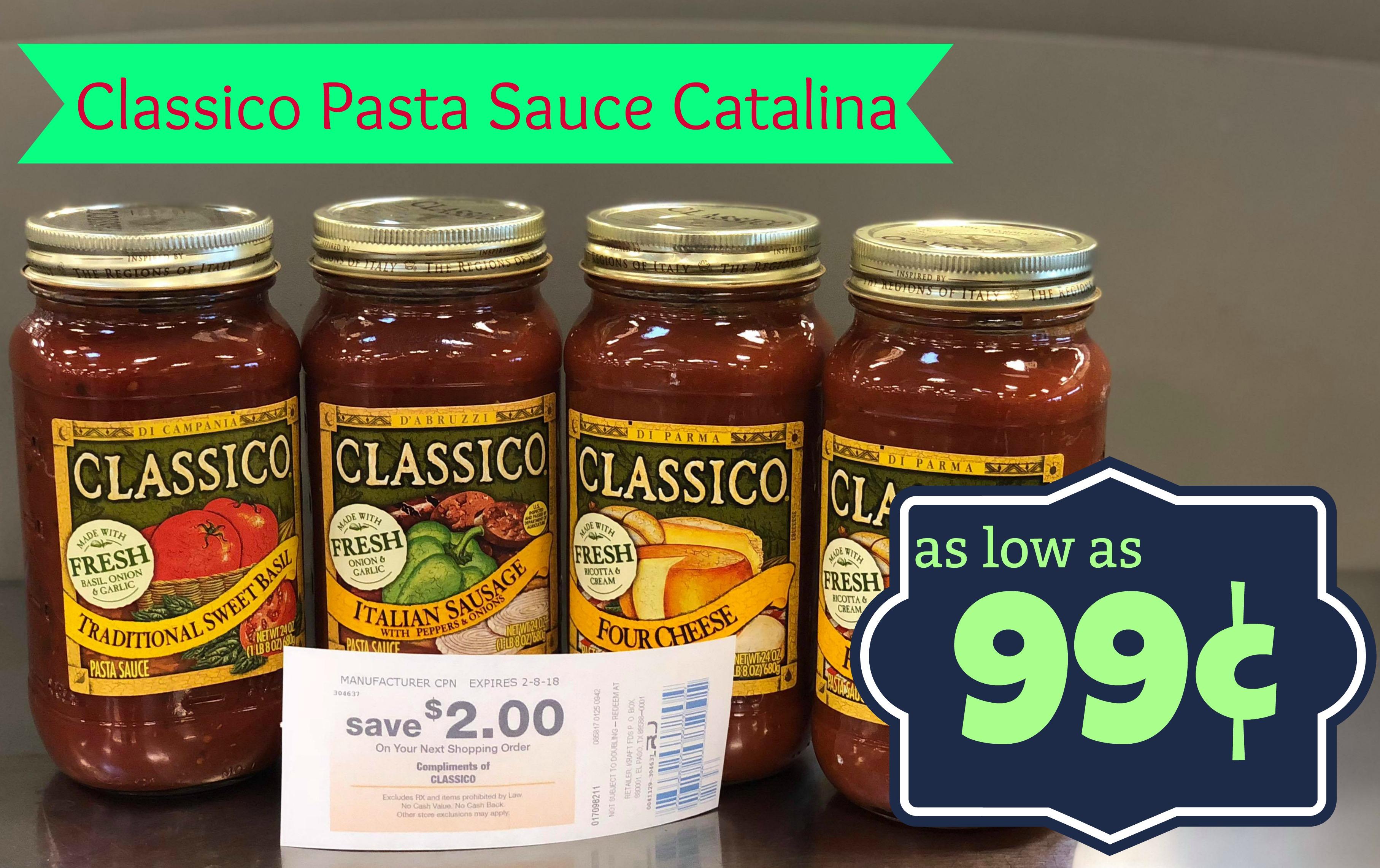 Classico pasta sauce coupons 2018