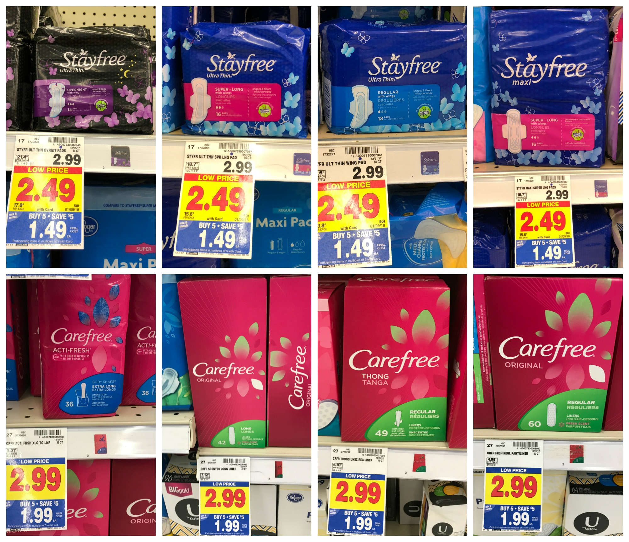 NEW Stayfree and Carefree Coupons = Pads as low as $0 49 at