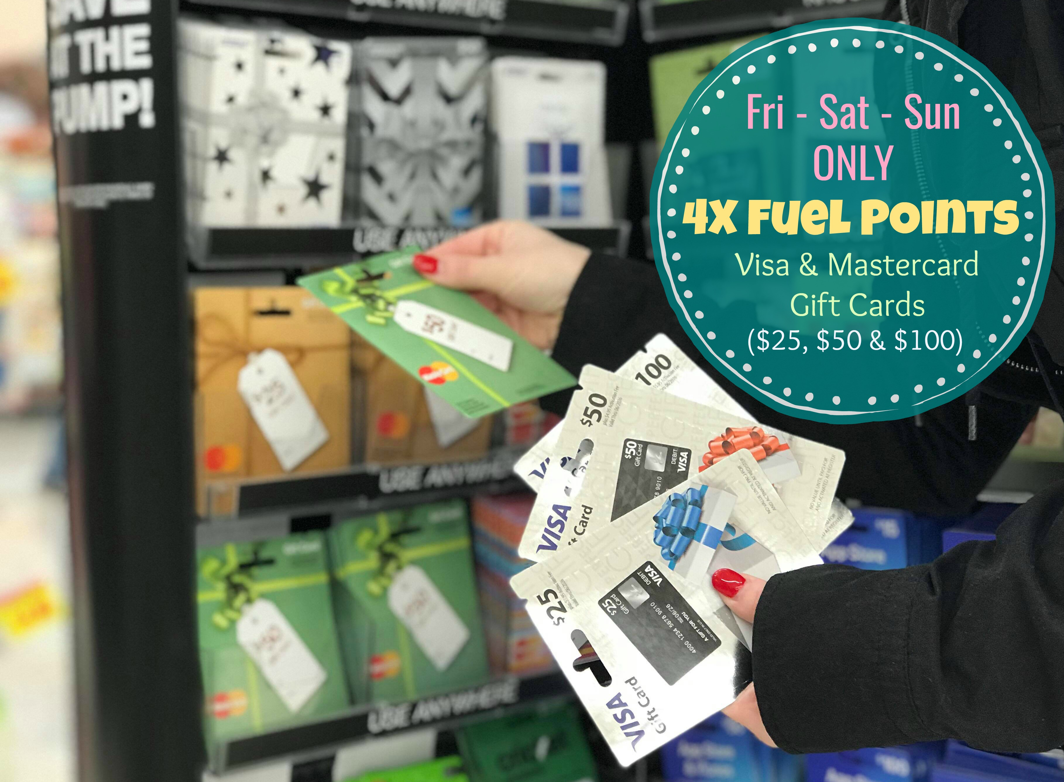 From Friday February 16 Thru Sunday 18 You Can Earn 4x Fuel Points On Visa And Mastercard 25 50 Or 100 Gift Cards At Kroger