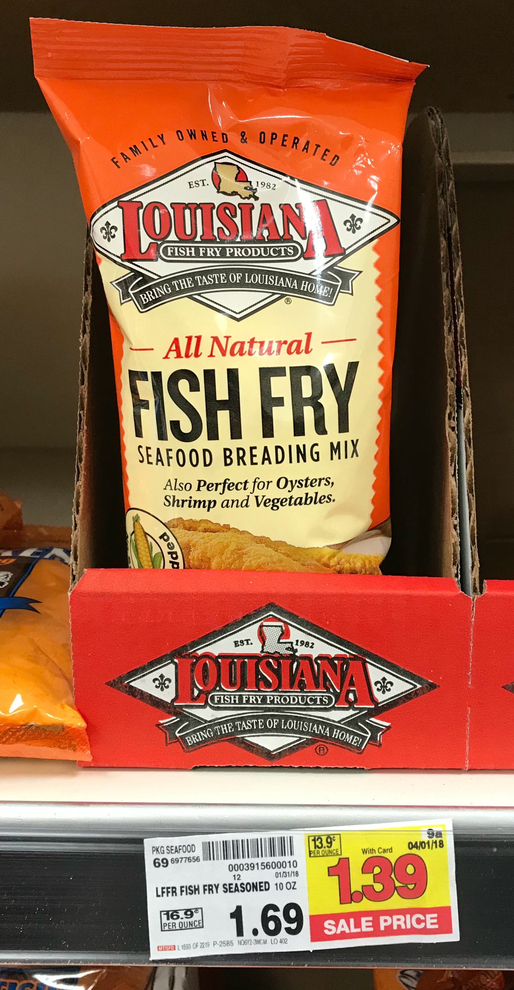 New louisiana products coupon fish fry seafood breading for Louisiana fish fry