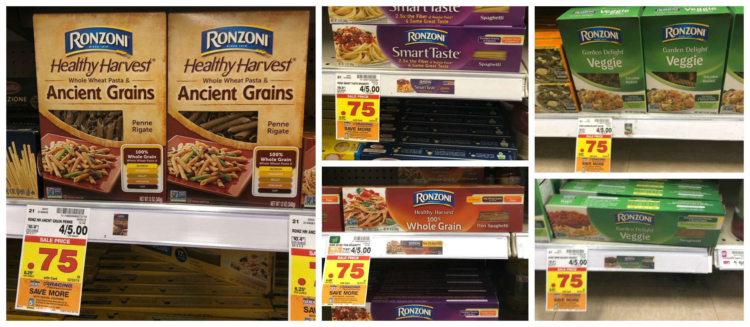 Ronzoni Healthy Harvest, Ancient Grains, Garden Delight and Smart ...