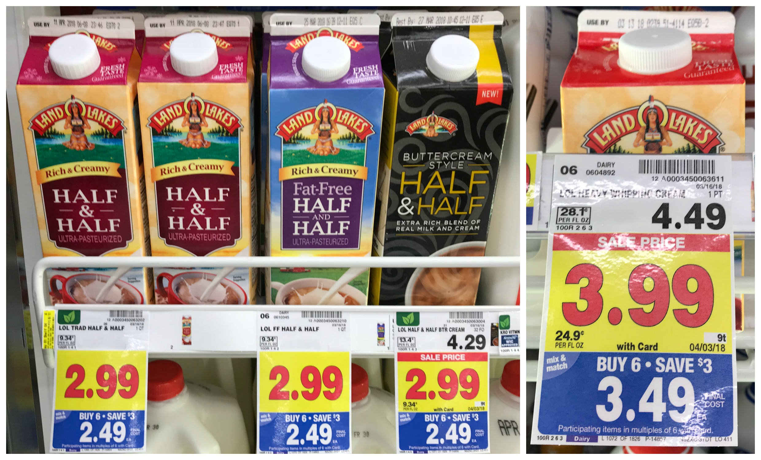 Rare Coupon Land O Lakes Half Half Only 1 99 With Kroger Mega Event Heavy Whipping Cream 2 99 Kroger Krazy