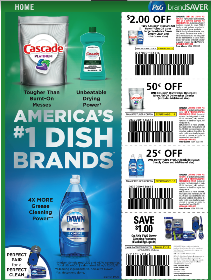 image relating to Printable Dawn Coupons named Clean Cascade Sunrise Coupon codes + Kroger Offer Situations! Good