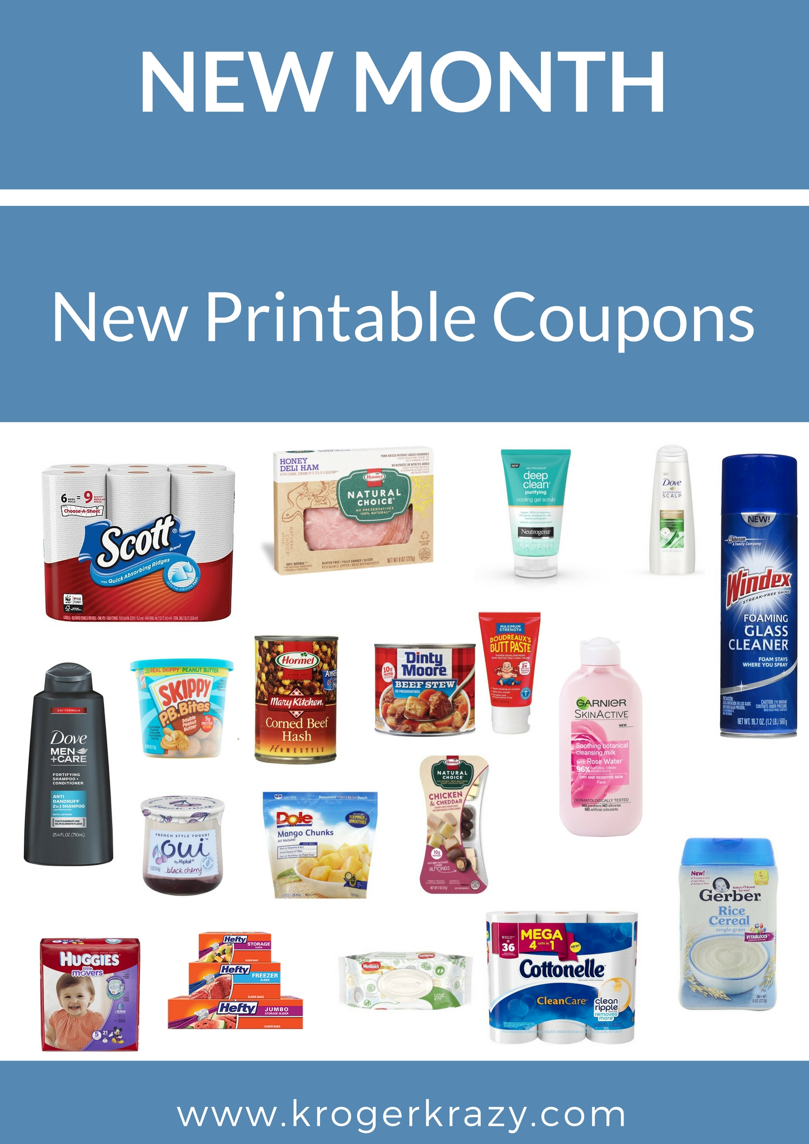 photo relating to Viva Printable Coupons called Refreshing Thirty day period! Contemporary Printable Discount coupons! Garnier, Gerber, Huggies