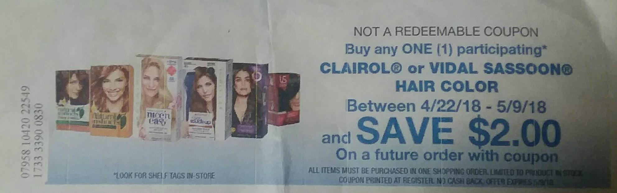 New Clairol Coupon Catalina Free Hair Color At Kroger Kroger
