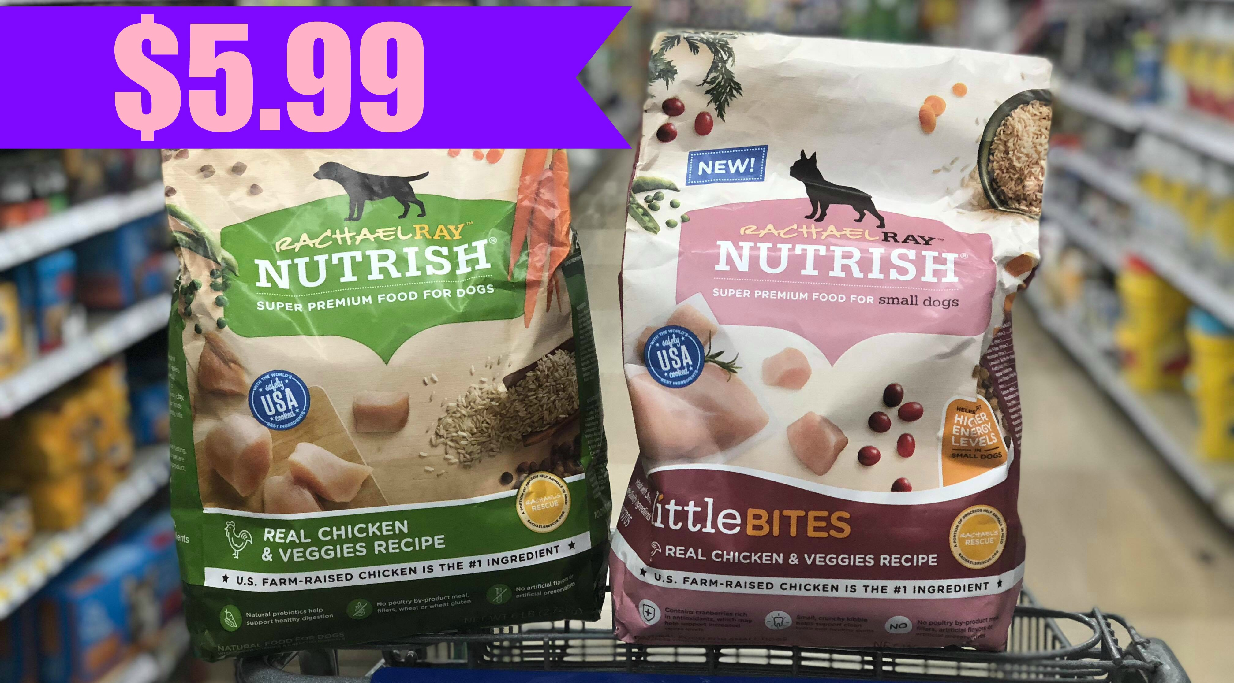 picture regarding Rachael Ray Cat Food Printable Coupons titled Rachel Ray Nutrish Puppy Food items Merely $5.99 at Kroger! Kroger Krazy