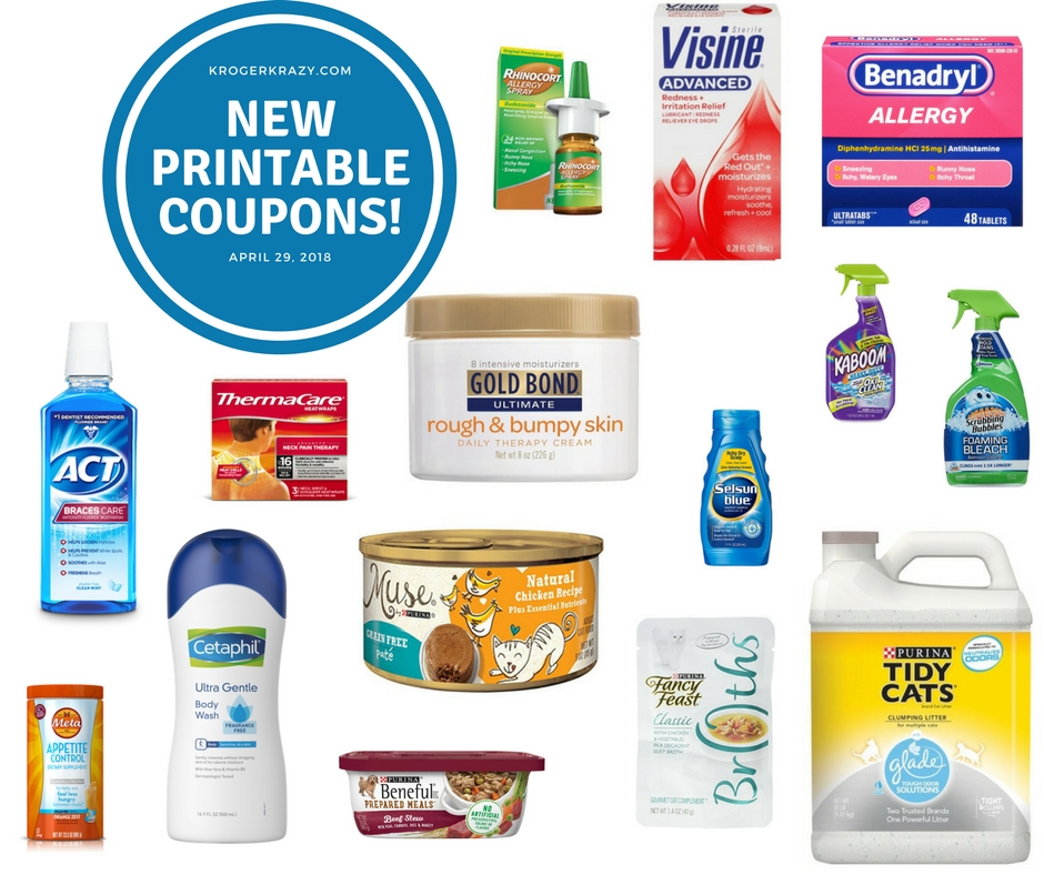 image about Benadryl Printable Coupon titled Contemporary Printable Coupon codes!!! Scrubbing Bubbles, Gold Bond
