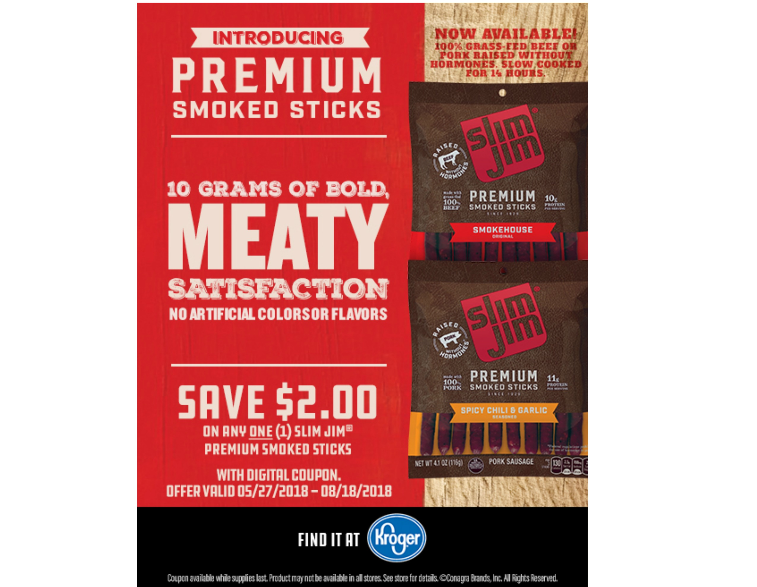 Great Deals On Slim Jim Premium Meat Sticks 2 99 And