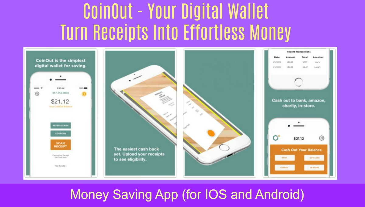 CoinOut App – Your Digital Wallet | Turn Receipts Into