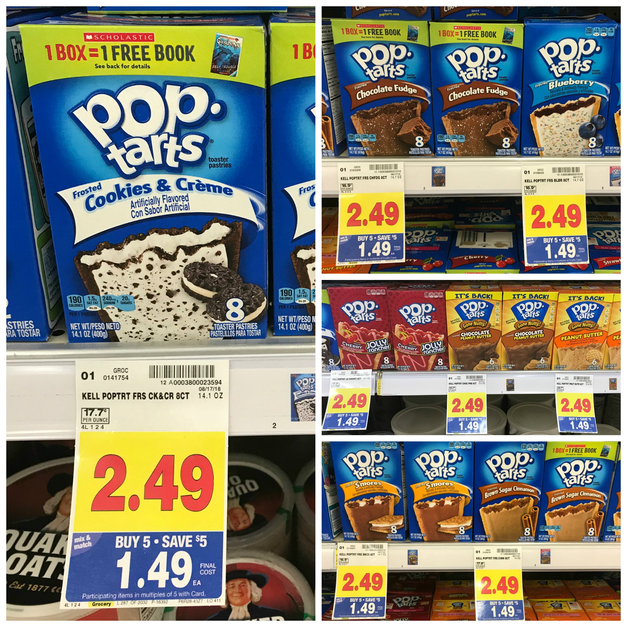 picture relating to Pop Tarts Coupon Printable titled Kelloggs Pop-Tarts Pastries Just $0.99 with Kroger Mega