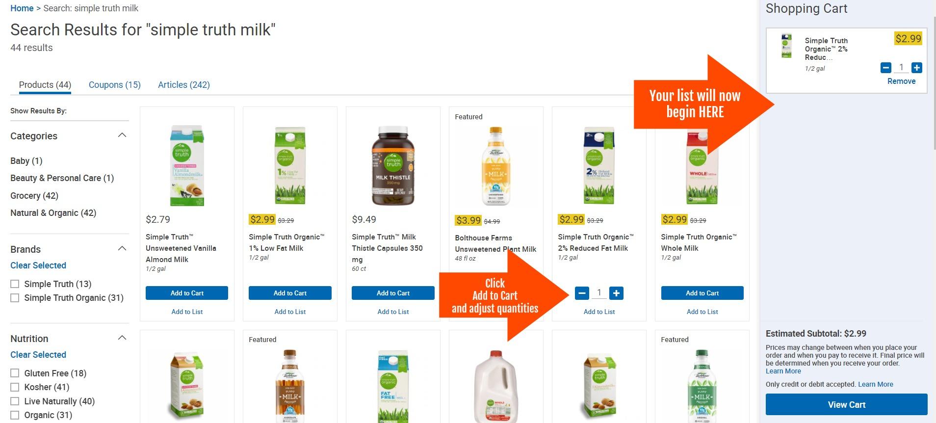 Kroger ClickList | Online Ordering Pick-Up Service | Kroger Krazy