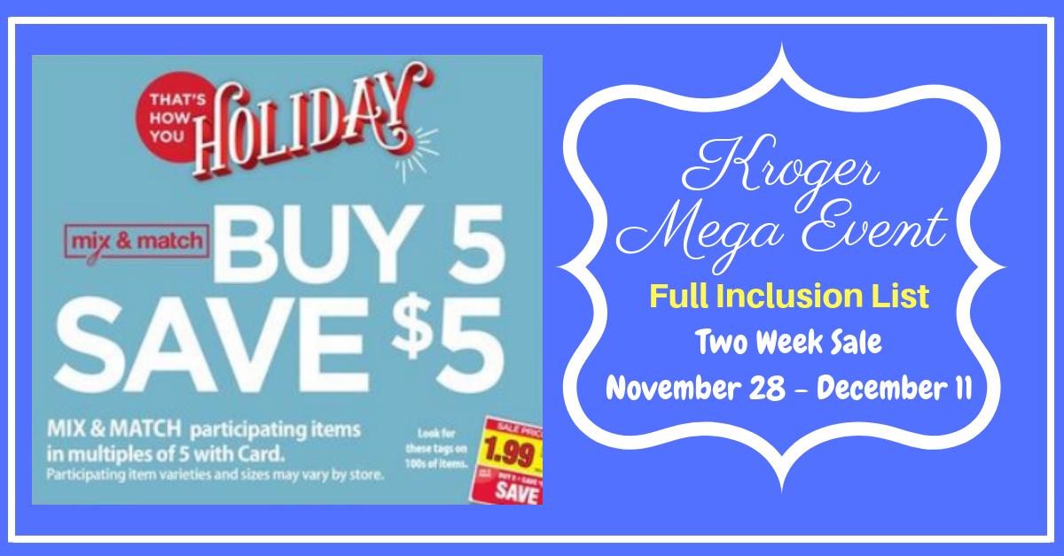 Kroger Buy 5 Save 5 Mega Event Full Inclusion List 2 Weeks Sale