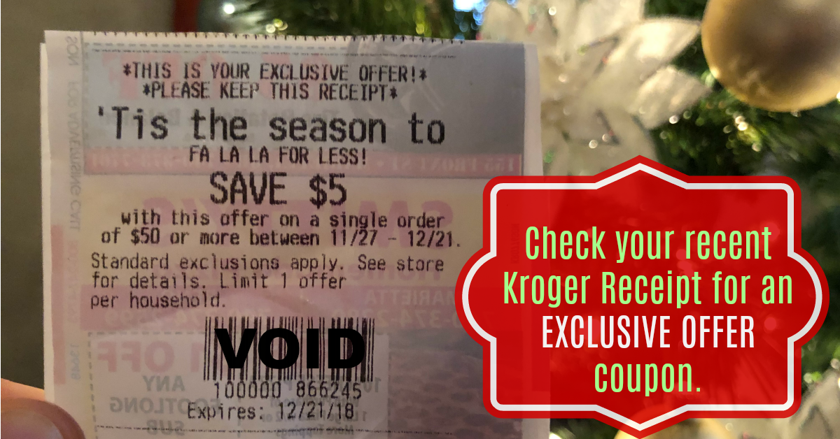 Extra Holiday Savings on your Kroger Receipt! What did you