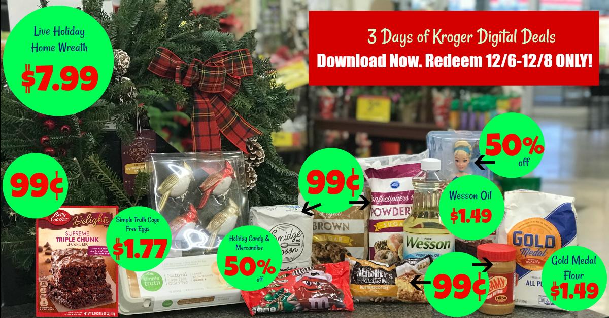Is Kroger Open On Christmas Eve.3 Days Of Digital Deals At Kroger Redeem 5x Digital
