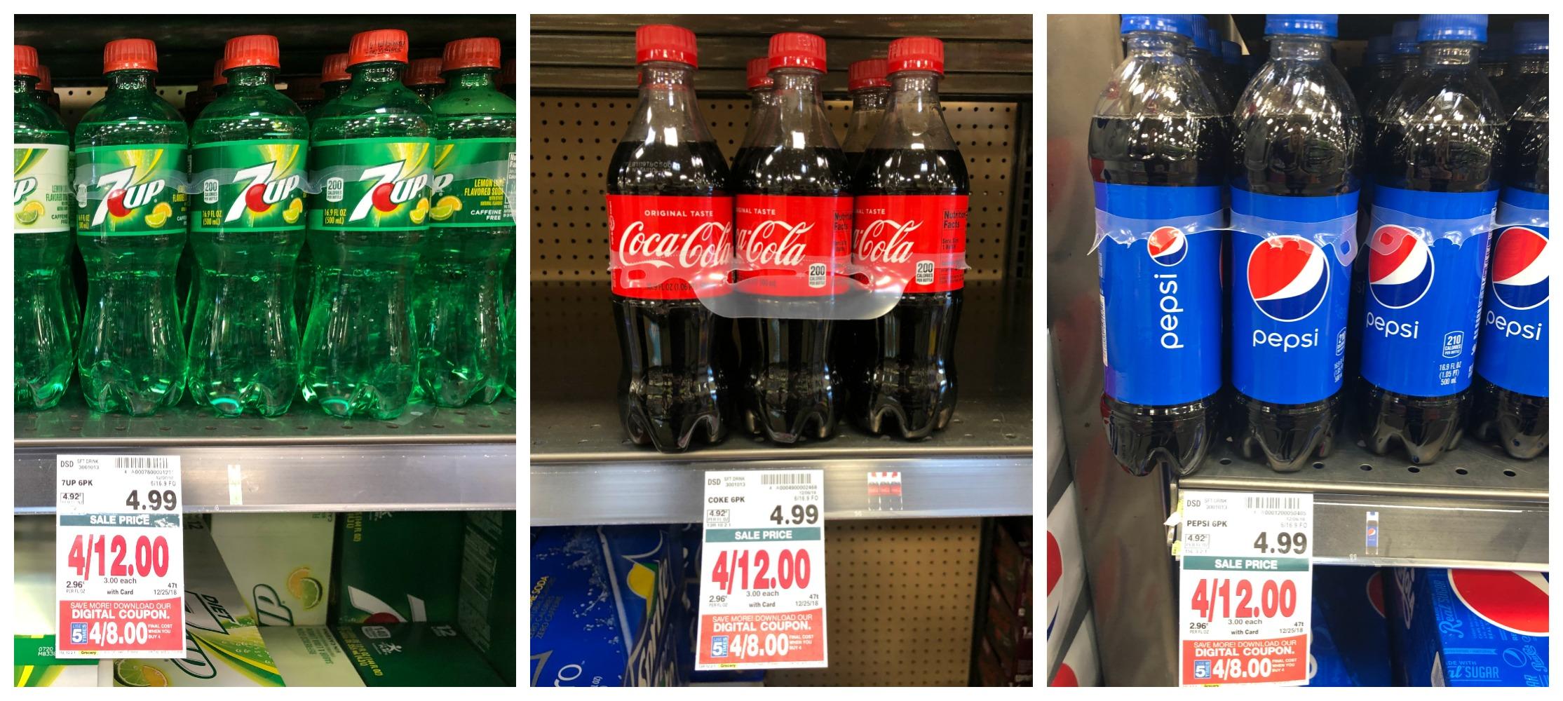 Pepsi 7up Or Coca Cola Products 6 Pack Bottles Just 2 00 At Kroger