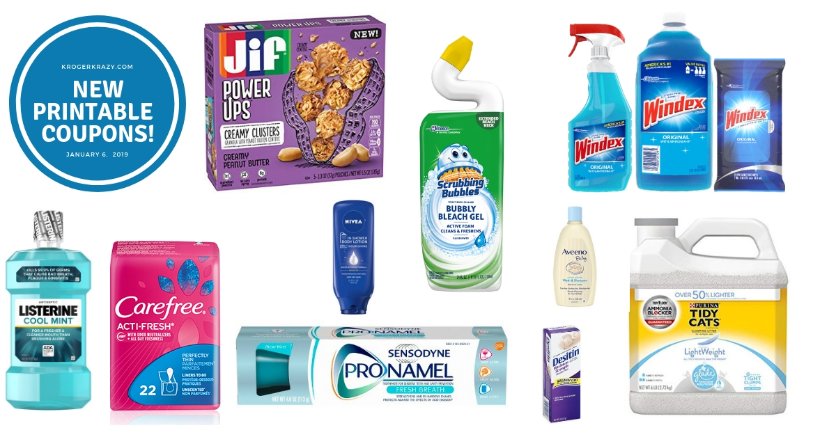 picture regarding Listerine Coupons Printable identify Fresh new Printable Discount coupons!! Windex, Scrubbing Bubbles, Carefree