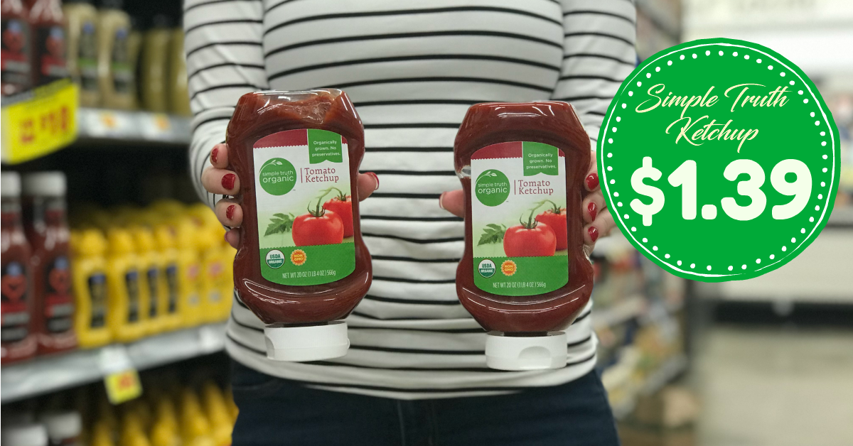 b033e02557d Use  0.30 1 Simple Truth Organic Ketchup or Mustard Kroger Digital Coupon -  Limit 5 (exp 02 05 19) Final cost is  1.39