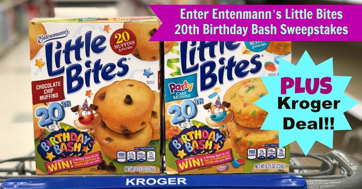 Enter The Entenmanns Little Bites 20th Birthday Bash Sweepstakes Kroger Deal Scenario