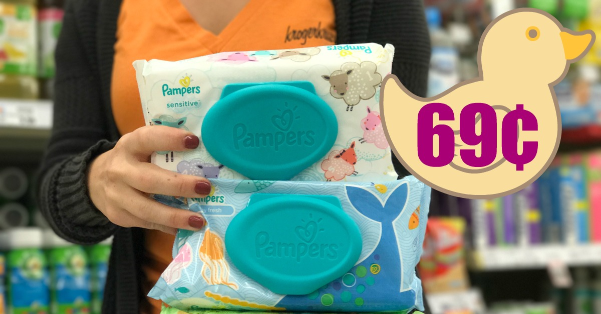 graphic about Pampers Wipes Printable Coupons identify Pampers Wipes as lower as $0.69 with Kroger Mega Function