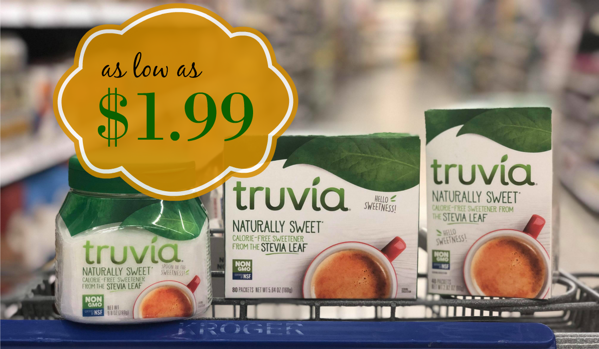 photograph about Truvia Coupons Printable known as Truvia Organic Sweetener as small as $1.99 at Kroger