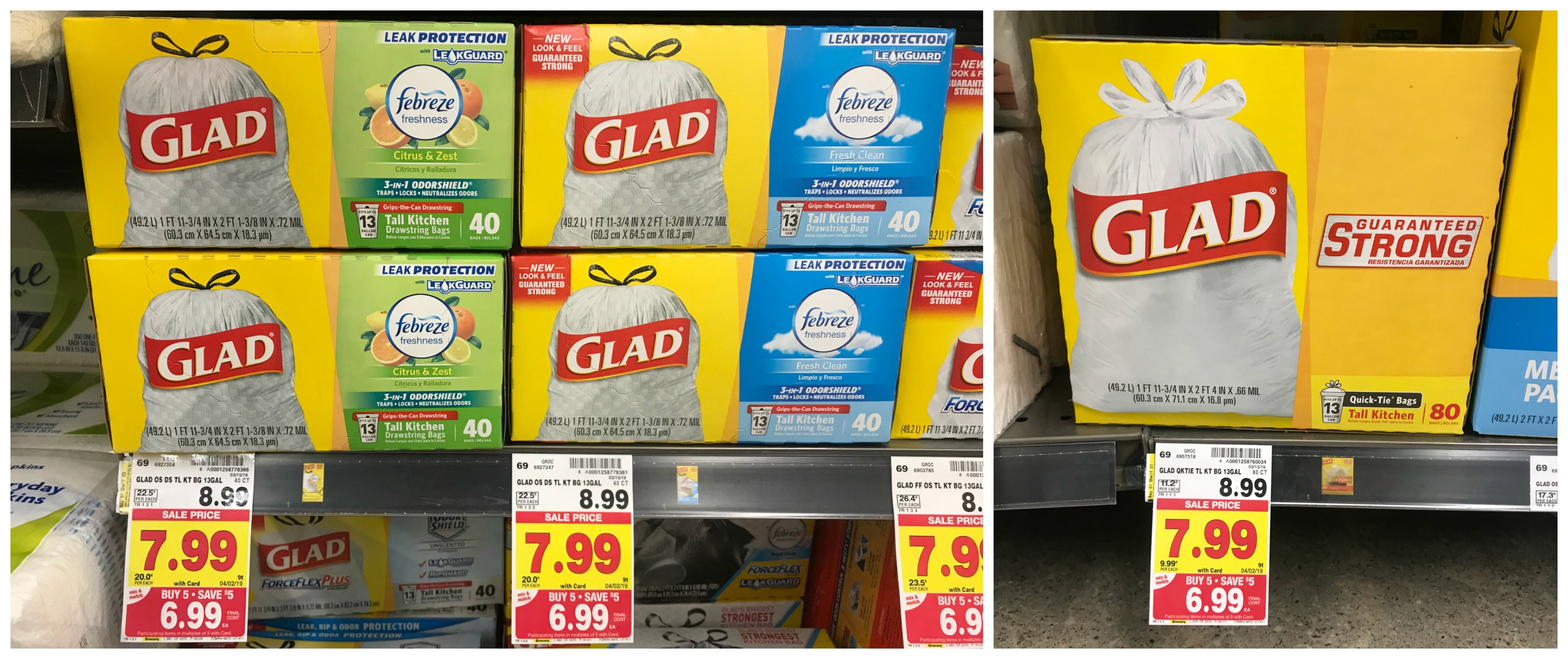 photograph regarding Glad Trash Bags Printable Coupon referred to as Content Trash Baggage Merely $5.99 at Kroger! (Reg Cost $8.99
