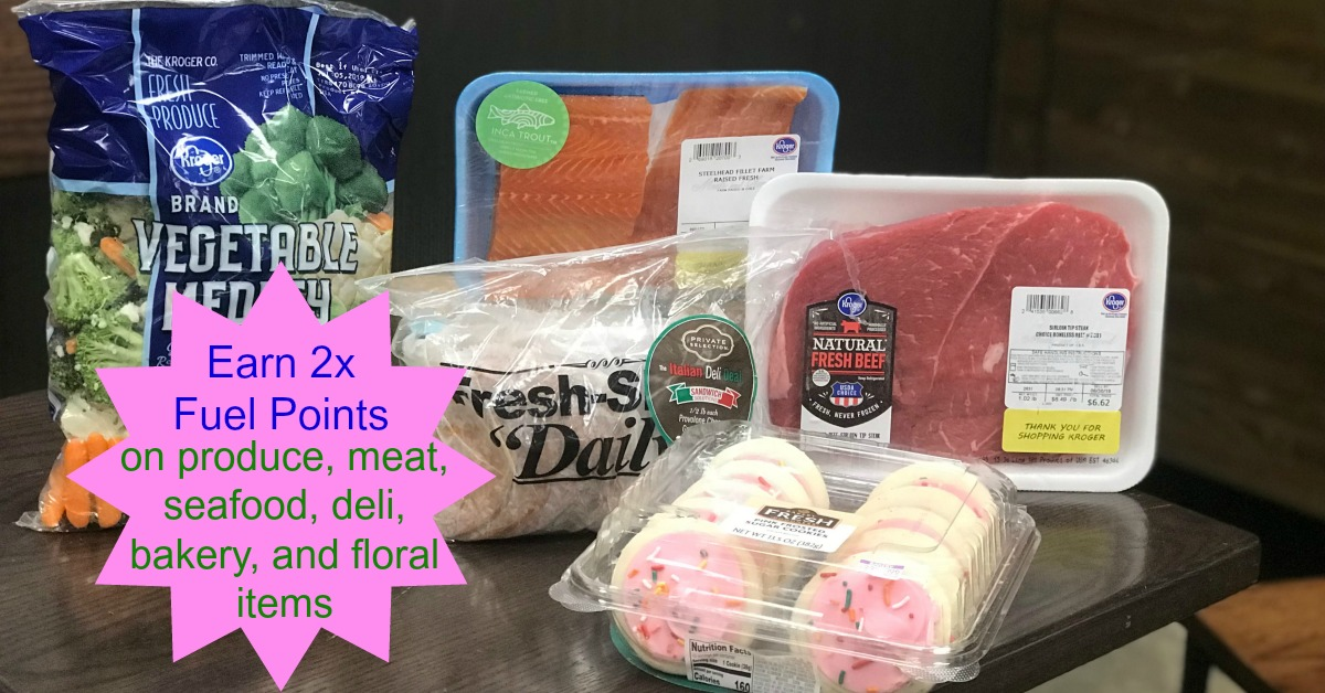 2x Kroger Fuel Points for Produce, Meat