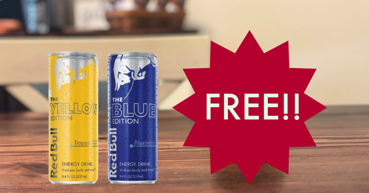 graphic about Red Bull Printable Coupons identify Absolutely free Pink Bull (BLUE OR YELLOW Variation) at Kroger! Kroger Krazy
