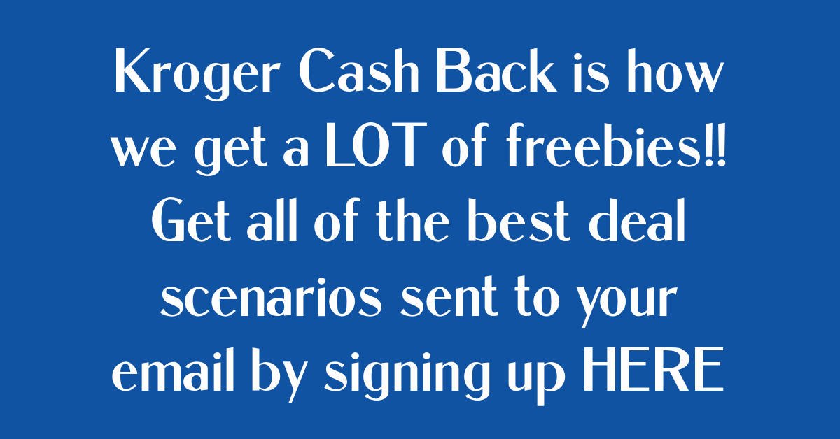 Kroger Cash Back Email Optin