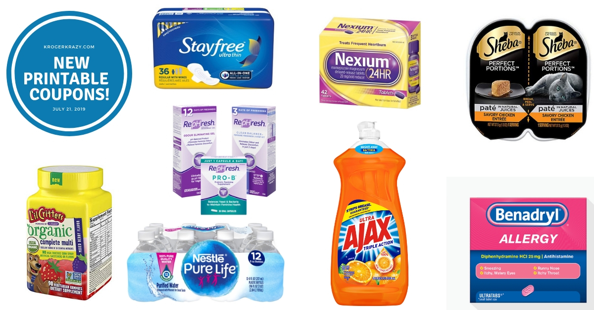 photograph about Nexium Coupons Printable identify Refreshing Printable Discount coupons! Stayfree, Nexium, Sheba, Ajax, Nestle