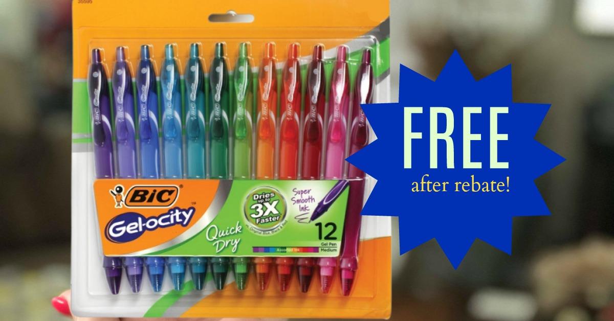 FREE BiC Gel-Ocity Pens with Kroger Mega Event (after rebate