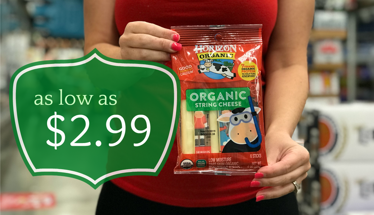 graphic about Organic Coupons Printable named Horizon Organic and natural Cheese String Cheese as minimal as $2.99 at